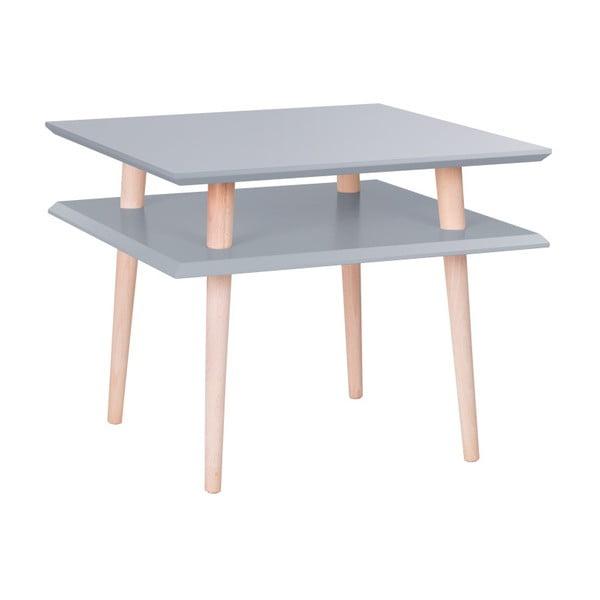 Tmavosivý konferenčný stolík Ragaba Square, 55x55cm