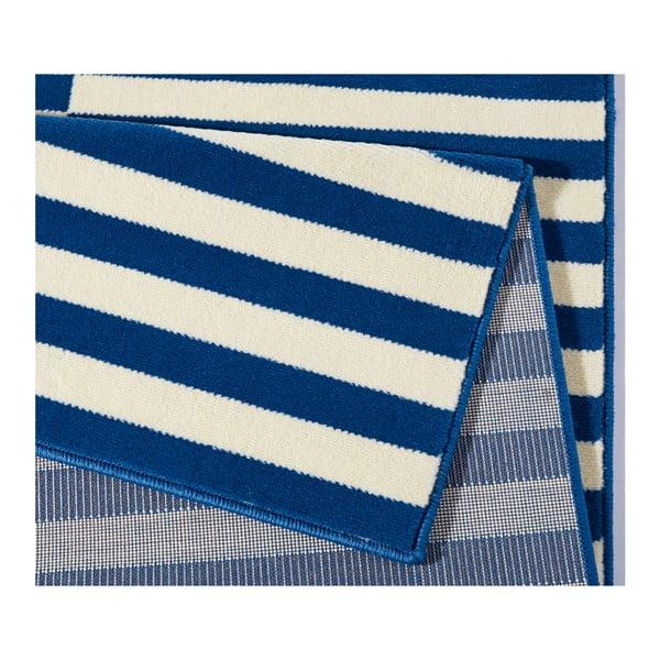 Modro-biely koberec Hanse Home Gloria Panel, 80 x 300 cm