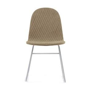 Béžová stolička s kovovými nohami IKER Mannequin V Stripe