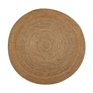Hnedý jutový koberec vhodný do exteriéru Native, ⌀200 cm
