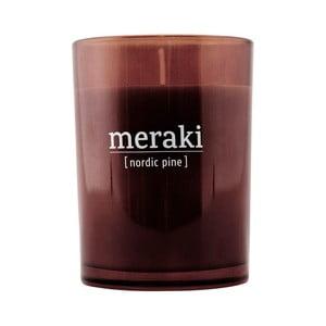Organická sviečka v skle s vôňou borovice Meraki Nordic Pine, dĺžka horenia 35 hodín