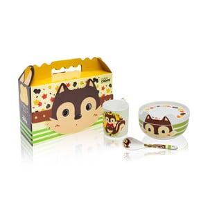 Detský raňajkový set z kostného porcelánu Silly Design Happy Stuart