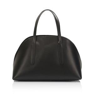 Čierna kožená kabelka Lisa Minardi Cast