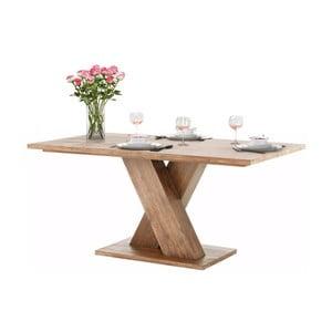 Hnedý jedálenský stôl z masívneho akáciového dreva Støraa Cong, 1x2 m