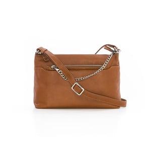 Hnedá kožená kabelka Gianni Conti Roberta