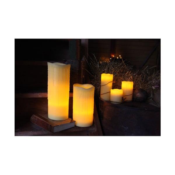 LED sviečka z vosku, 20 cm