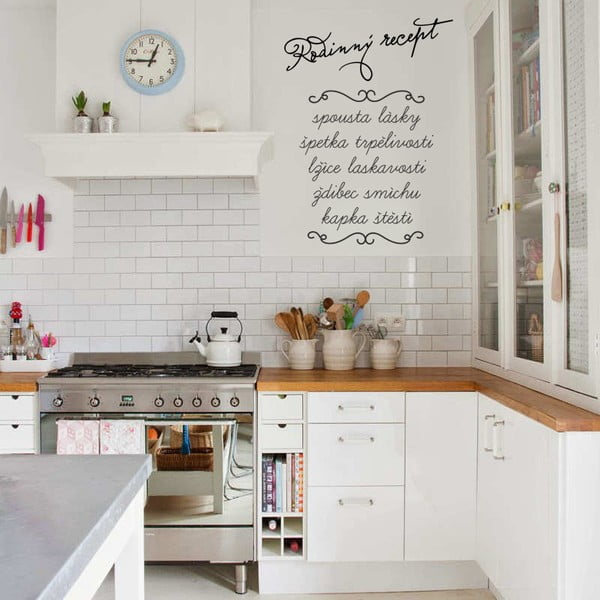 Samolepka na stenu Rodinný recept