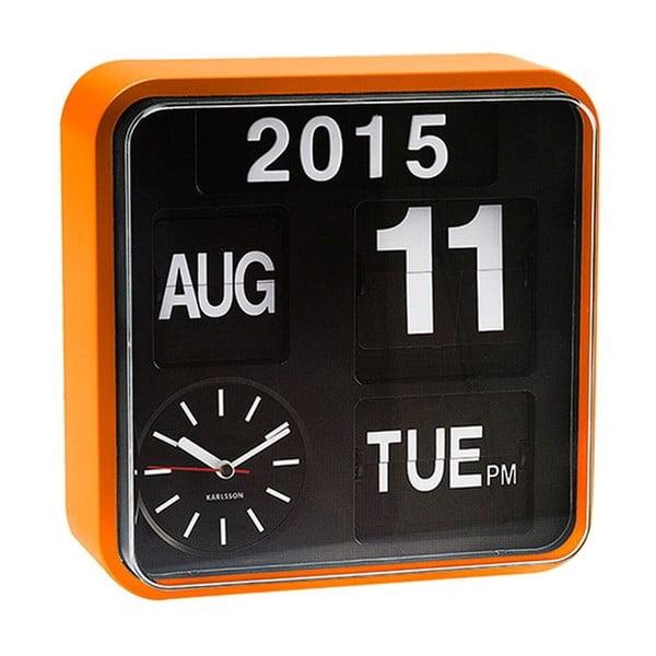 Hodiny Present Time Mini Flip Black