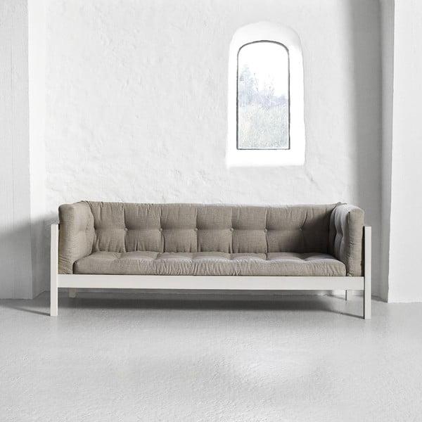 Trojmiestna pohovka Karup Fusion White/Linoso Light Gray
