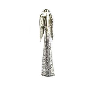 Kovová dekorácia v tvare anjela Dakls Angel, výška 11,5 cm
