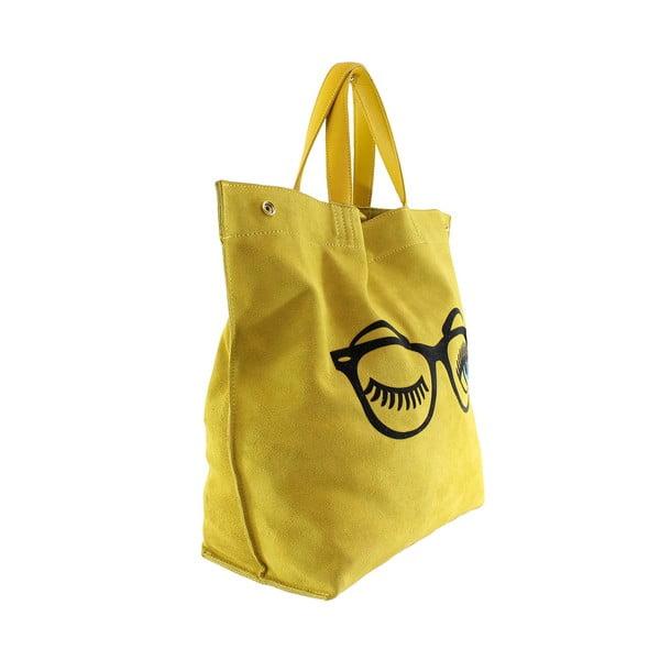 Kožená kabelka Wink, žltá