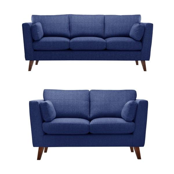 Sada dvou pohovek pre dvoch a pre troch  Elisa, námornícka modrá