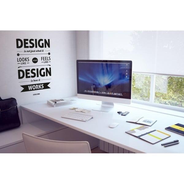 Samolepka na stenu Design by Steve Jobs, čierna