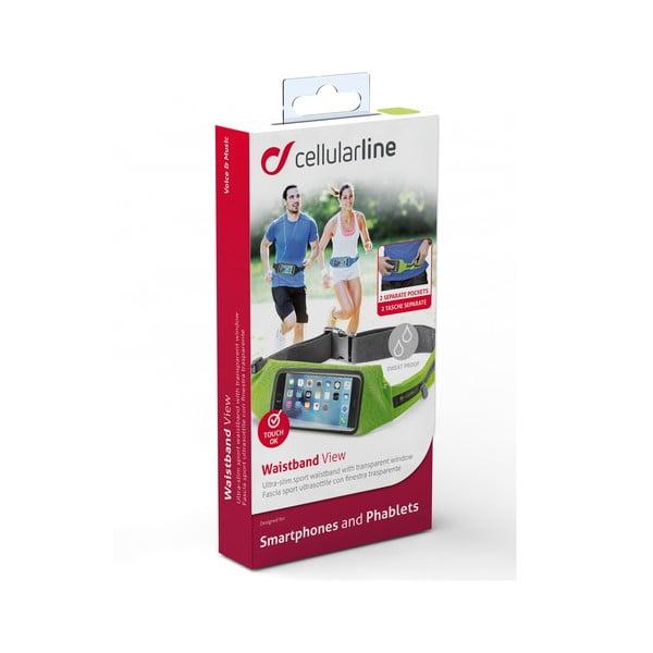 Športové puzdro CellularLine WAISTBAND, limetkové