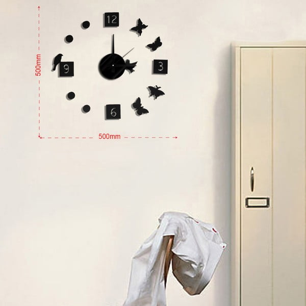 Nástenné nalepovacie hodiny Mauro Ferretti Animals, ⌀ 50 cm