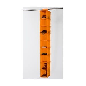 Oranžový závesný organizér s 9 priehradkami Compactor