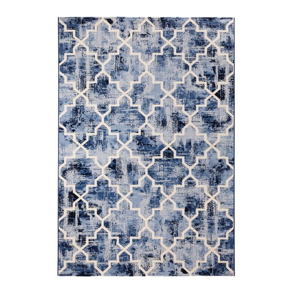Modrý koberec Schöngeist & Petersen Diamond, 80 x 150 cm