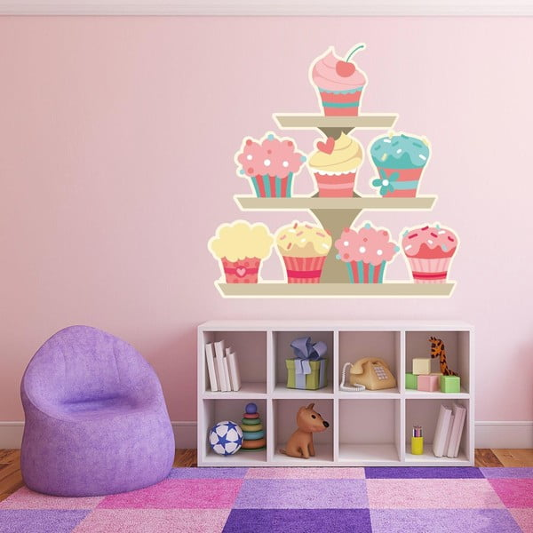 Samolepka na stenu Cupcakes Stand