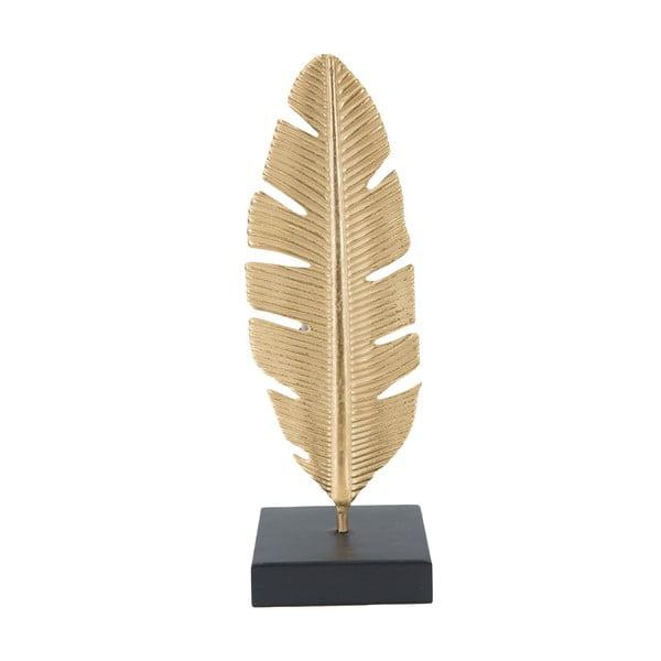 Dekoratívny svietnik v zlatej farbe Mauro Ferretti Feather, výška 30 cm
