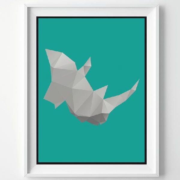 Plagát Rhino, A3