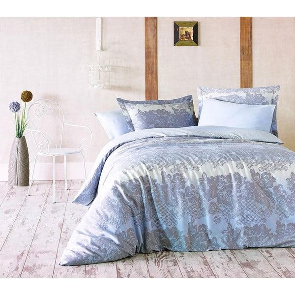 Obliečky s plachtou Marie Claire Bleu Floral, 160x220 cm