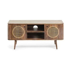 Hnedý televízny stolík z mangového dreva La Forma, 120 × 40 cm