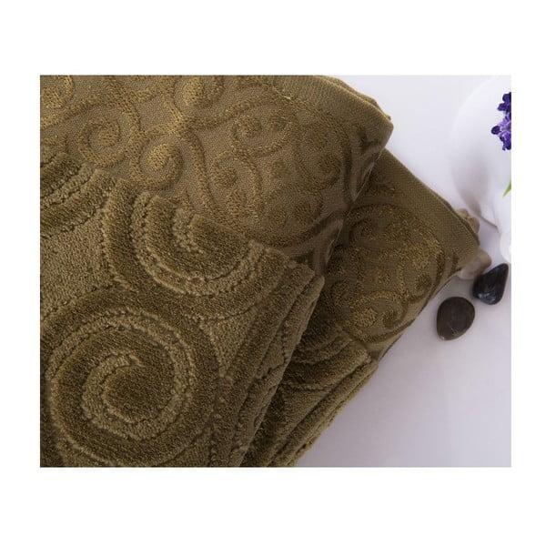 Sada 2 uterákov Hanzade Green, 50x90 cm