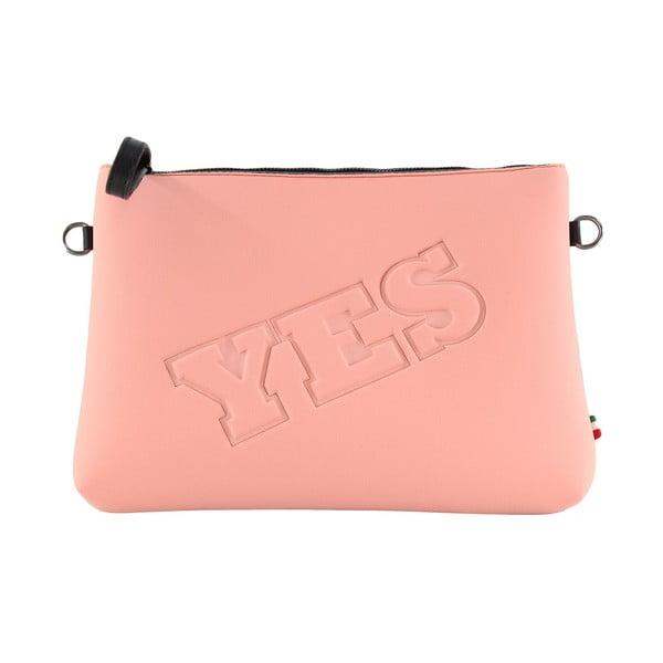 Neoprénová listová kabelka Yes/No, růžové