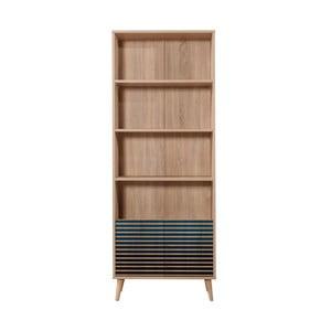Knižnica Booki Blue Classic, 198×75 cm
