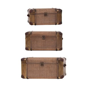 Sada 3 dekoratívnych kufrov Last Deco Trunkers