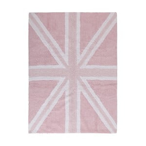 Ružoý bavlnený ručne vyrobený koberec Lorena Canals UK, 120 x 160 cm