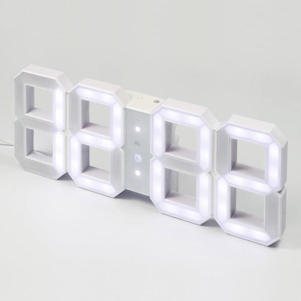 Biele LED hodiny od Vadima Kibardina, kábel 10 metrov