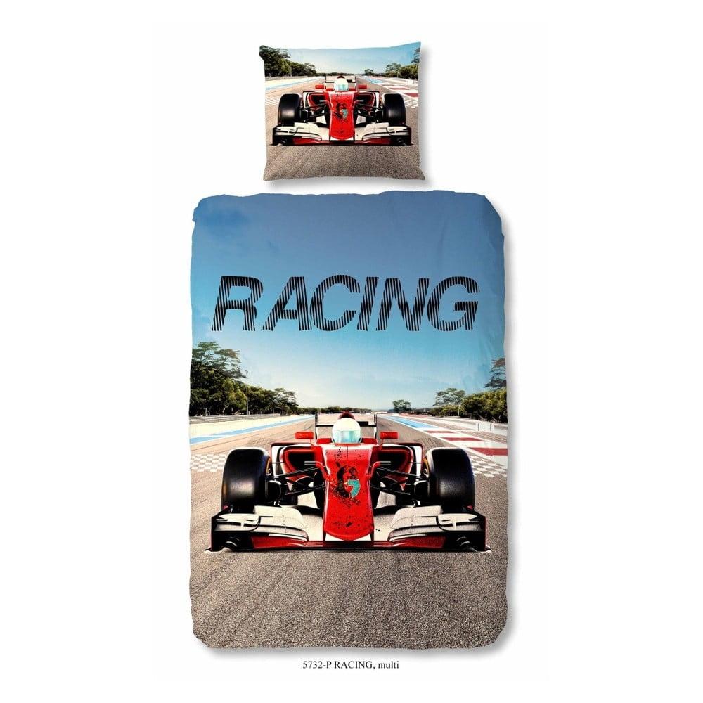 Detské obliečky na jednolôžko z čistej bavlny Muller Textiels Racing, 140 × 200 cm