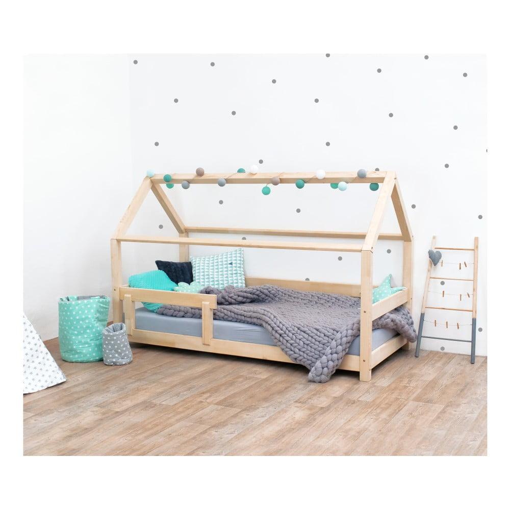 Prírodná detská posteľ s bočnicami zo smrekového dreva Benlemi Tery, 80 × 160 cm