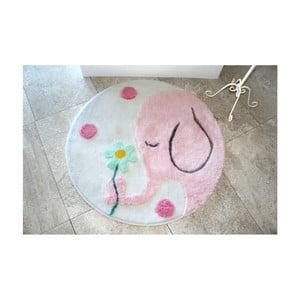 Kúpeľňová predožka Alessia Buyuk Fil Pink, Ø90 cm