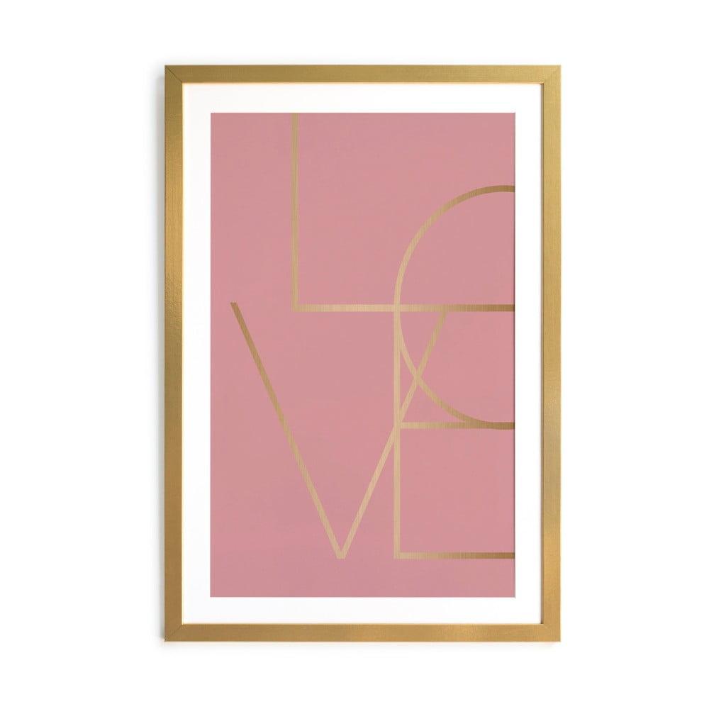 Obraz v ráme Velvet Atelier Golden Love, 40 x 60 cm