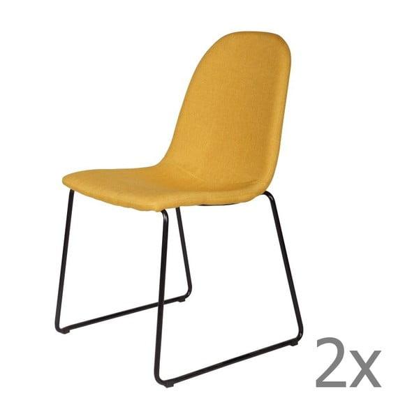 Sada 2 žltých stoličiek Cooper Yellow