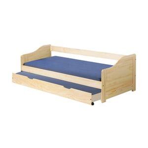 Drevená jednolôžková posteľ so zásuvkou 13Casa Leon, 90 x 190 cm