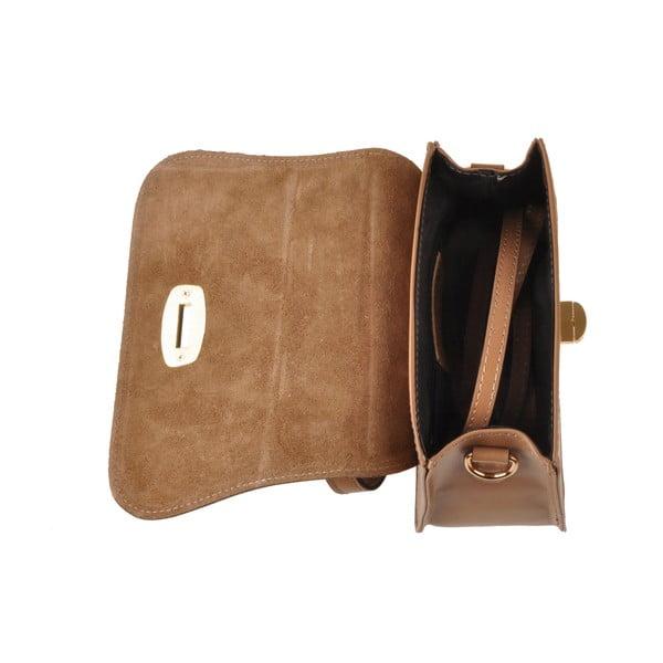Kožená kabelka Flaux, béžová