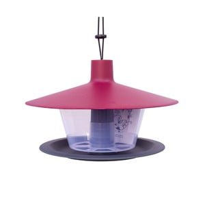 Červeno-sivé kŕmidlo pre vtáctvo Plastia Finch