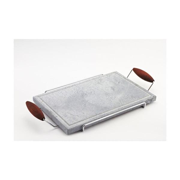 Servírovací podnos s kamennou doskou Stone Plate, 27x52 cm