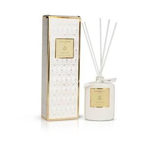 Biely vonný difuzér v škatuľke s vôňou jablka a škorice Bahoma London Diffuser, 100 ml