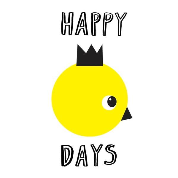 Plagát Karin Åkesson Design Happy Days, 30x40 cm