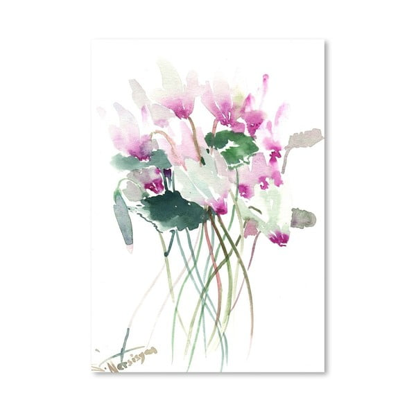 Plagát White Pink Flowers od Suren Nersisyan
