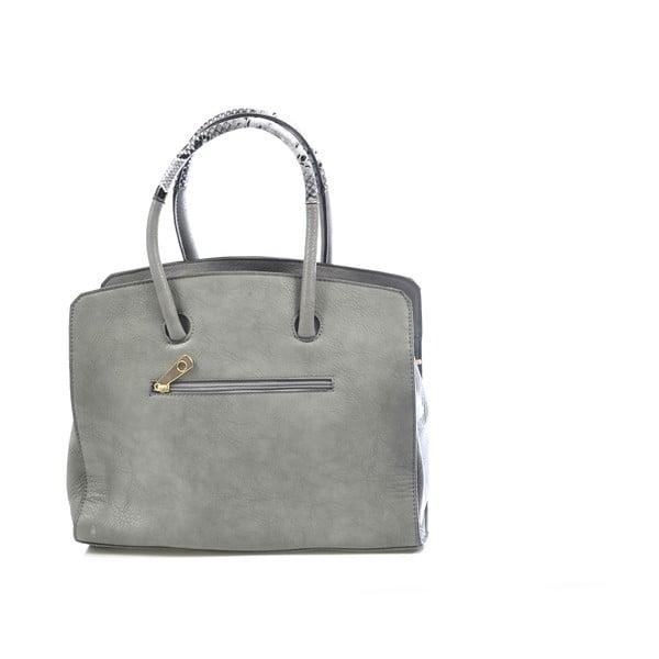 Kožená kabelka Chiara, sivá