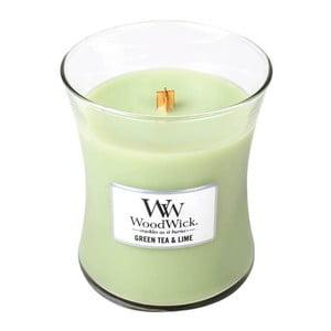 Sviečka s vôňou zeleného čaju, mäty a limetky WoodWick, doba horenia 60 hodín