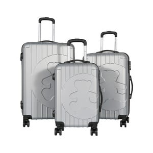 Sada 3 svetlosivých cestovných kufrov LULU CASTAGNETTE Philip