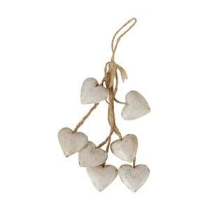 Závesná dekorácia Antic Line White Heart