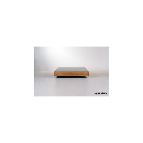 Vznášajúca sa posteľ z jelšového dreva Mazzivo Loop, 200 x 200 cm