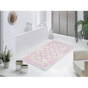 Staroružový odolný koberec Vitaus Celine, 80x150cm
